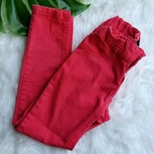Children's Place Jeggings Red Skinny Jeans Girls